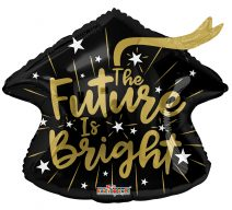 the future is bright graduation balloon
