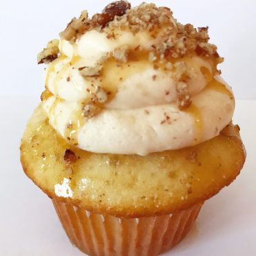 Order Salted Caramel Pecan Cupcakes for delivery! We are located in Fairfax, Virginia and deliver our cupcakes, balloons in Northern VA and the DC area: Aldie, Annandale, Arlington, Alexandria, Ashburn, Bristow, Burke, Chantilly, Clifton, Centreville, Fairfax, Fairfax Station, Falls Church, Gainesville, Great Falls, Haymarket, Herndon, Manassas, Mclean, Oakton, Reston, Springfield, Sterling, South Riding, Tysons, Vienna and Washington DC